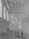 WOOD STREET, CITY OF LONDON. Interior of Haberdashers' Hall c1880 old print